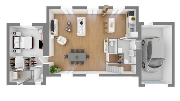 Maison+Terrain à vendre .(115 m²)(PUYVERT) avec (MAISONS FRANCE CONFORT)
