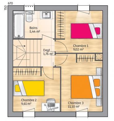 Maison+Terrain à vendre .(78 m²)(PUYVERT) avec (MAISONS FRANCE CONFORT)