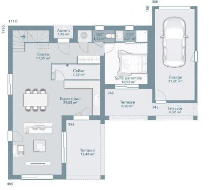 Maison+Terrain à vendre .(110 m²)(PUYVERT) avec (MAISONS FRANCE CONFORT)