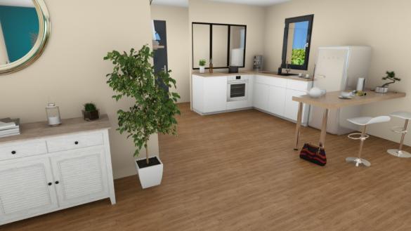 Maison+Terrain à vendre .(83 m²)(COTIGNAC) avec (MAISONS FRANCE CONFORT)