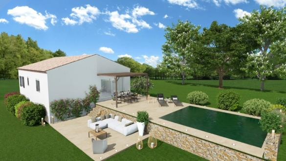 Maison+Terrain à vendre .(90 m²)(GAREOULT) avec (MAISONS FRANCE CONFORT)
