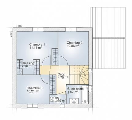 Maison+Terrain à vendre .(95 m²)(CALVISSON) avec (MAISONS BALENCY)