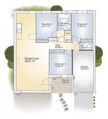 Maison+Terrain à vendre .(83 m²)(LEDENON) avec (MAISONS BALENCY)