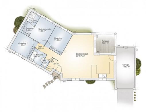Maison+Terrain à vendre .(100 m²)(BOUCOIRAN ET NOZIERES) avec (MAISONS BALENCY)