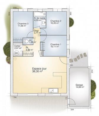 Maison+Terrain à vendre .(83 m²)(SAINT GILLES) avec (MAISONS BALENCY)