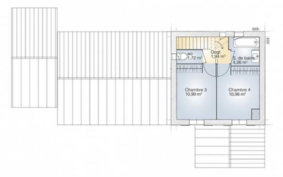 Maison+Terrain à vendre .(110 m²)(BLAUZAC) avec (MAISONS BALENCY)
