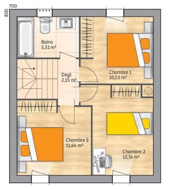 Maison+Terrain à vendre .(88 m²)(CALVISSON) avec (MAISONS BALENCY)