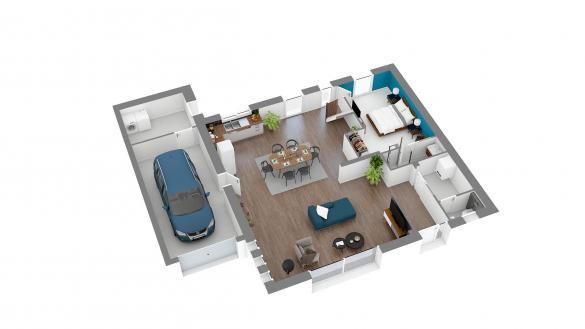 Maison+Terrain à vendre .(140 m²)(LOCHES) avec (Maison Familiale Tours)