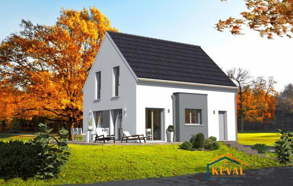 Maison+Terrain à vendre .(90 m²)(OBERHOFFEN LES WISSEMBOURG) avec (KEVAL CONSTRUCTION)
