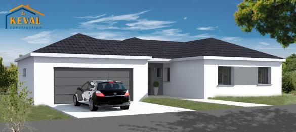 Maison+Terrain à vendre .(80 m²)(XOUAXANGE) avec (KEVAL CONSTRUCTION)