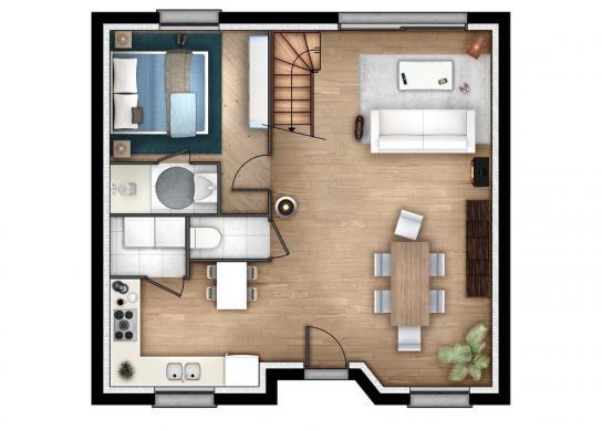Maison+Terrain à vendre .(86 m²)(LE TILLEUL) avec (MAISONS EXTRACO- Agence du HAVRE)