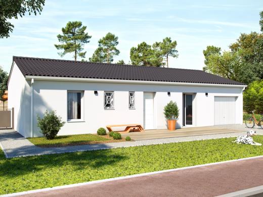 Maison+Terrain à vendre .(80 m²)(CARTELEGUE) avec (ALPHA CONSTRUCTIONS BLAYE)
