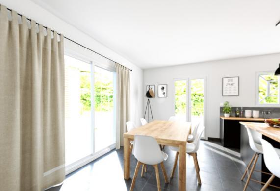 Maison+Terrain à vendre .(90 m²)(PRIGNAC ET MARCAMPS) avec (ALPHA CONSTRUCTIONS BLAYE)