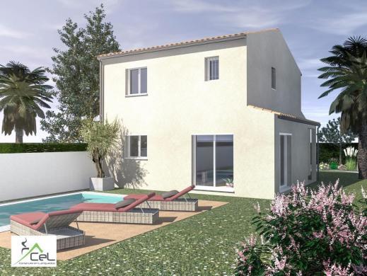 Maison+Terrain à vendre .(90 m²)(MURVIEL LES MONTPELLIER) avec (CONSTRUIRE EN LANGUEDOC)