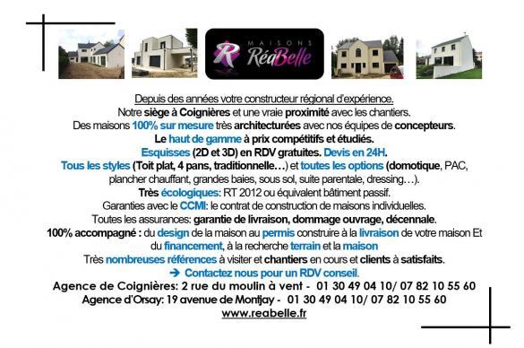 Maison+Terrain à vendre .(100 m²)(CORBEIL ESSONNES) avec (Maisons RéaBelle)