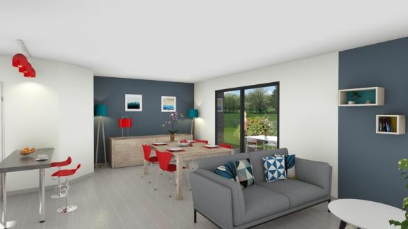 Maison+Terrain à vendre .(90 m²)(VANDEINS) avec (MAISONS FLORIOT)
