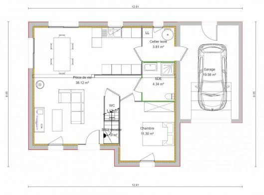 Maison+Terrain à vendre .(114 m²)(ESCOVILLE) avec (TRADIBAT NORMANDIE)