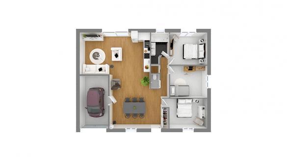 Maison+Terrain à vendre .(90 m²)(LEVIGNEN) avec (Résidences Picardes)