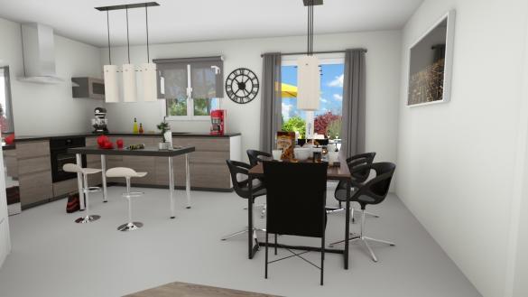 Maison à vendre .(90 m²)(CHANOZ CHATENAY) avec (MAISONS LOGELIS LYON)