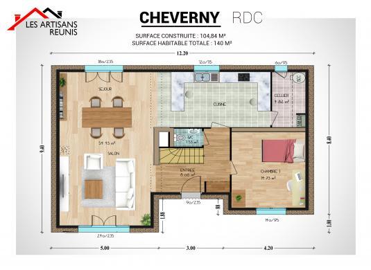 Maison à vendre .(140 m²)(DAMPIERRE EN YVELINES) avec (LES ARTISANS REUNIS)