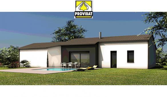 Maison+Terrain à vendre .(80 m²)(MURVIEL LES MONTPELLIER) avec (PROVIBAT)