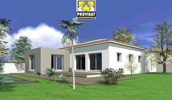Maison+Terrain à vendre .(90 m²)(SAINT MATHIEU DE TREVIERS) avec (PROVIBAT)