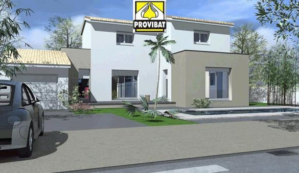 Maison+Terrain à vendre .(80 m²)(ARAMON) avec (PROVIBAT)