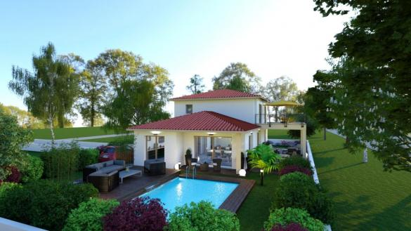 Maison à vendre .(140 m²)(SAINT BONNET DE MURE) avec (Pavillons Création 69)