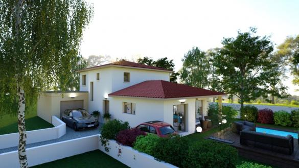 Maison à vendre .(130 m²)(SOUCIEU EN JARREST) avec (Pavillons Création 69)