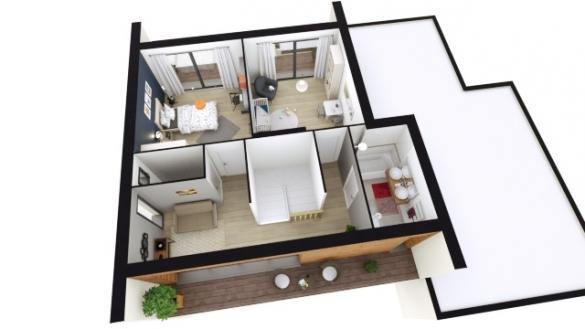 Maison+Terrain à vendre .(136 m²)(RUSTENHART) avec (LES MAISONS D'AUGUSTE)