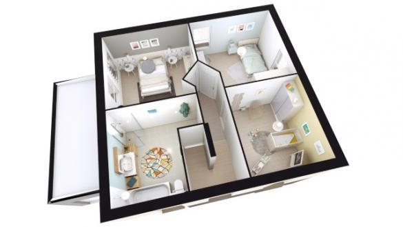Maison+Terrain à vendre .(98 m²)(SEPPOIS LE BAS) avec (LES MAISONS D'AUGUSTE)