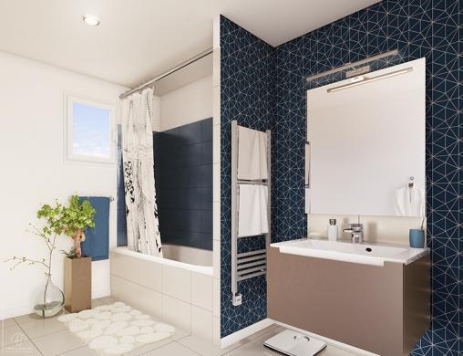 Maison+Terrain à vendre .(105 m²)(TRILBARDOU) avec (MAISONS PHENIX)