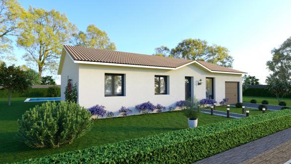 Maison+Terrain à vendre .(85 m²)(GARNERANS) avec (MAISONS PUNCH SIEGE SOCIAL)