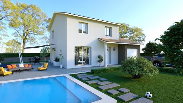 Maison+Terrain à vendre .(94 m²)(GUEREINS) avec (MAISONS PUNCH)