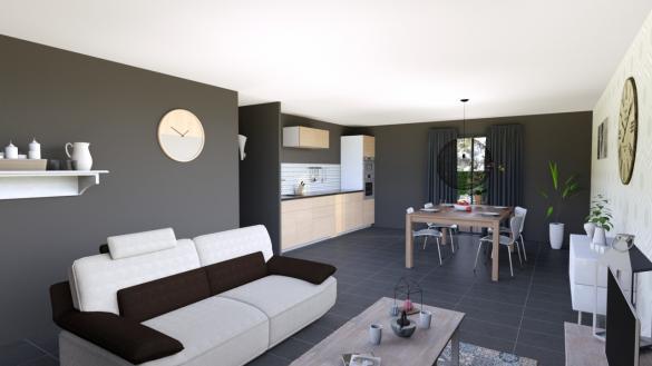 Maison+Terrain à vendre .(80 m²)(GUEREINS) avec (MAISONS PUNCH)