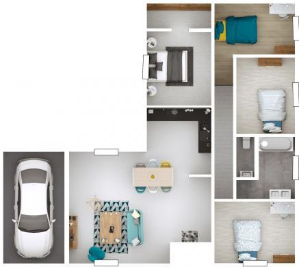 Maison+Terrain à vendre .(105 m²)(QUINCIE EN BEAUJOLAIS) avec (MAISONS PUNCH)