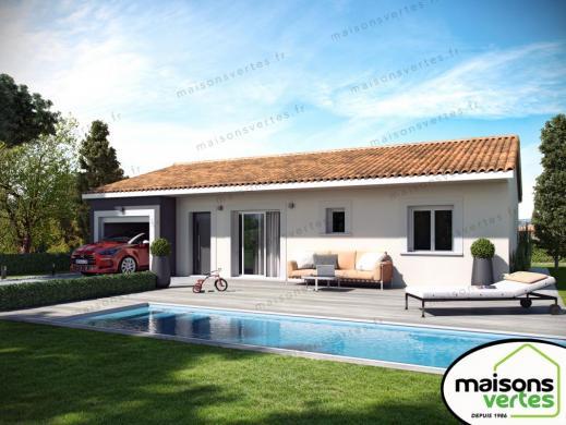 Maison+Terrain à vendre .(82 m²)(AZILLE) avec (MAISONS VERTES)