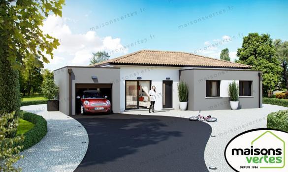 Maison+Terrain à vendre .(90 m²)(MONTBLANC) avec (MAISONS VERTES)