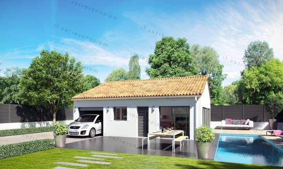 Maison+Terrain à vendre .(70 m²)(SAINT THIBERY) avec (MAISONS VERTES)