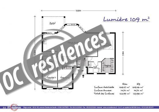 Maison+Terrain à vendre .(109 m²)(CAZEDARNES) avec (OC RESIDENCES - BEZIERS)