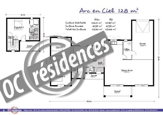 Maison+Terrain à vendre .(128 m²)(LAURENS) avec (OC RESIDENCES - BEZIERS)