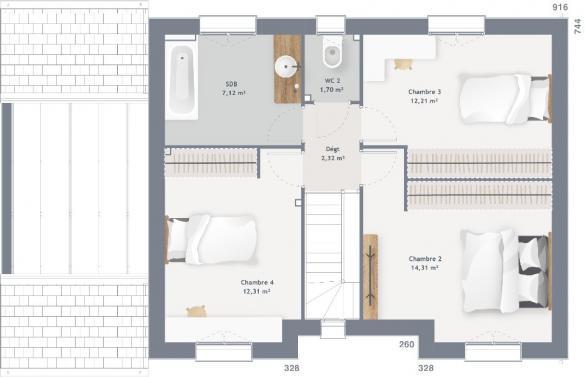 Maison+Terrain à vendre .(105 m²)(MASNIERES) avec (MAISONS FRANCE CONFORT)