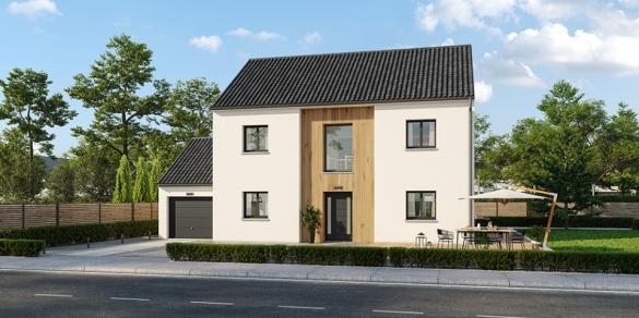 Maison+Terrain à vendre .(140 m²)(ZERMEZEELE) avec (MAISONS FRANCE CONFORT)