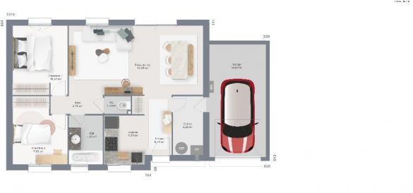 Maison+Terrain à vendre .(70 m²)(HERZEELE) avec (MAISONS FRANCE CONFORT)