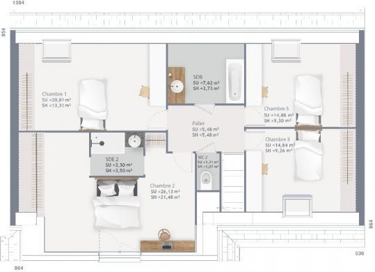 Maison+Terrain à vendre .(150 m²)(ROSENDAEL) avec (MAISONS FRANCE CONFORT)
