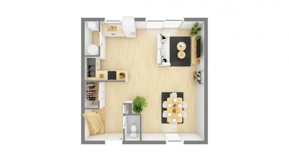 Maison+Terrain à vendre .(90 m²)(GUIGNES) avec (MAISONS PHENIX)