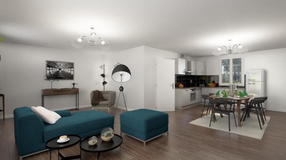 Maison+Terrain à vendre .(97 m²)(FONTAINE LE BOURG) avec (HABITAT CONCEPT BOOS)