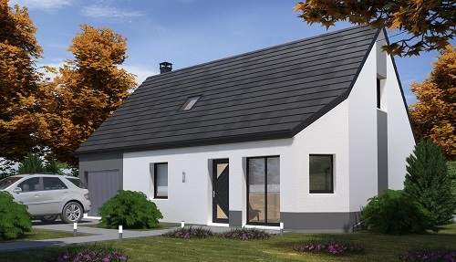 Maison+Terrain à vendre .(102 m²)(TOURVILLE LA RIVIERE) avec (HABITAT CONCEPT)