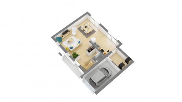 Maison+Terrain à vendre .(87 m²)(FONTAINE LE BOURG) avec (HABITAT CONCEPT BOOS)