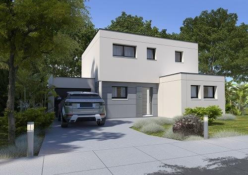 Maison+Terrain à vendre .(124 m²)(SAINT AUBIN LES ELBEUF) avec (HABITAT CONCEPT BOOS)